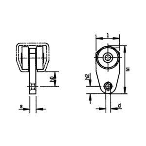 Závěsný pojezdový vozík pro plachty a opony HELM