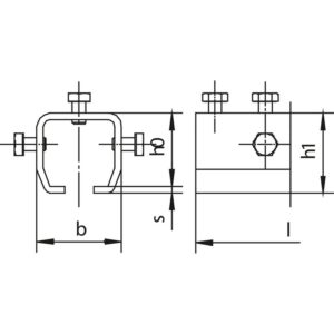 Spojovací schéma příruby značky HELM s rozměry