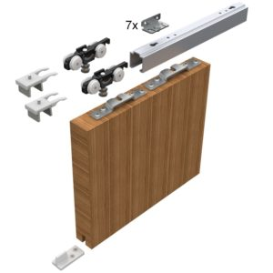 Sada kování pro posuvné dveře 2100 mm do 50 kg, hliník