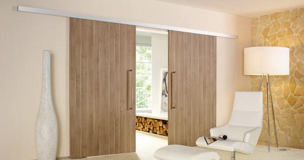 Interiérové kování pro dřevěné posuvné dveře