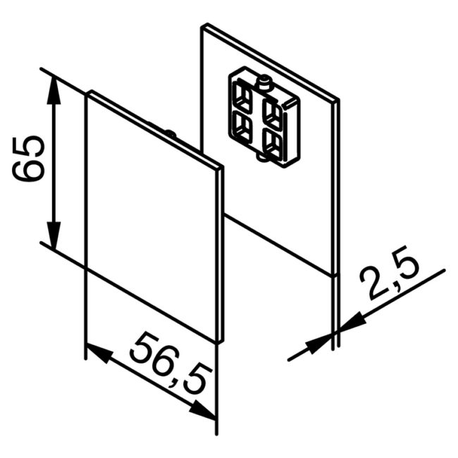 Krytky pro distanční a krycí klipový distanční profil Solido 80