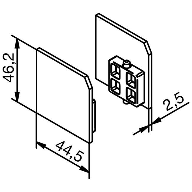 krytky pro montážní profil Solido 80