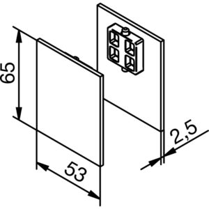 Krytky pro krycí klipový profil pro dřevěné dveře Solido 80