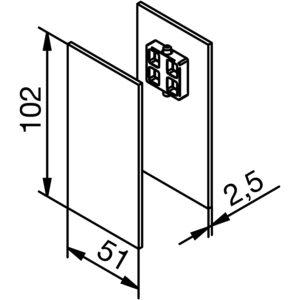 Krytky pro montážní a krycí klipový profil Solido 80