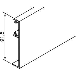 Krycí klipový distanční profil Solido 80/ Helm140