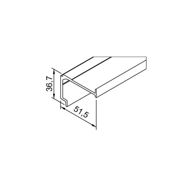 Montážní profil pro kombinaci s krycím profilem Solido 80