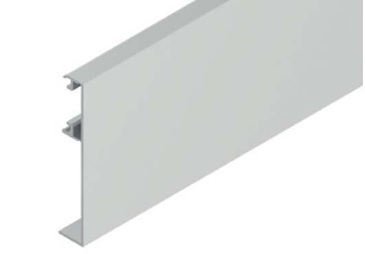 Krycí klipový profil pro skleněné dveře Solido 80 Helm 140
