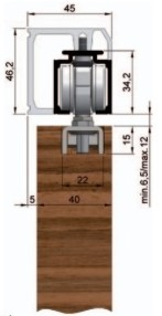 montážní profil na zeď